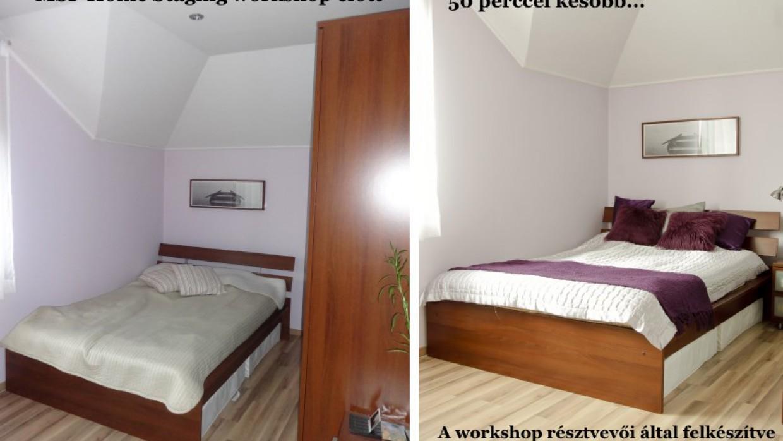A legutóbbi Kezdő Home Staging Workshop előtte-utána fotói